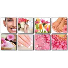 8 pc Beauty Salon and Spa Canvas Decoration CM-DA -- Read more at the image link.