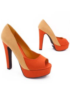 Orange peep toe!
