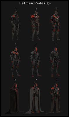 Batman Redesign , Tyler Ryan on ArtStation Batman Armor, Batman Suit, Batman Beyond Suit, Batman Redesign, Batman Drawing, Hq Dc, Futuristic Armour, Batman Poster, Univers Dc