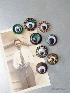 Recycled Jewelry Eye Magnets