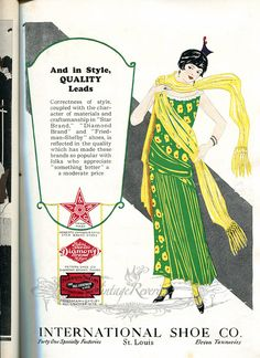 #1920s #Shoe #highheels ad with a #flapper #fashion #stl #stlouis #fashionhistory #illustration #shoes