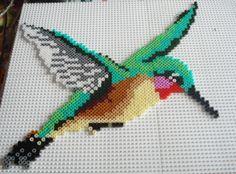 Humming bird hama perler beads by Chantal Jacquinet