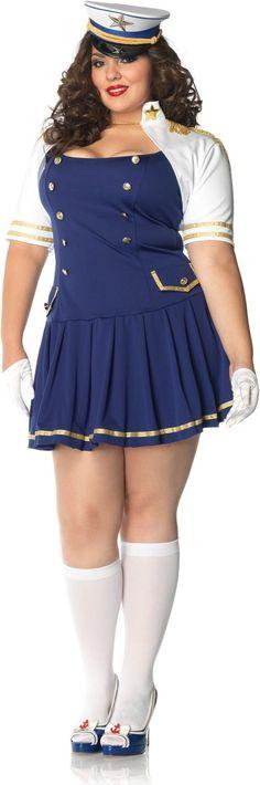 Captain Ship Shape Sailor Plus Size Costume Sexy Sailor Costumes - Mr. Costumes