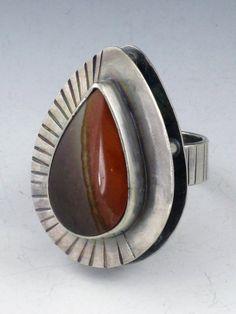 Sterling Silver Jasper Stilts Ring by MicheleGradyDesigns
