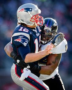 Ray Lewis tackling Tom Brady...can't wait to see this happen again