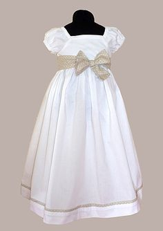 Empire waist dress-elegant and classic. I wonder if G would wear if tied sash… Girls Special Occasion Dresses, Girls Easter Dresses, Little Girl Dresses, Flower Girl Dresses, Toddler Dress, Baby Dress, Dress Up, Custom Dresses, Elegant Dresses