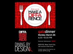 DIFFA 2018 Dining out for AIDS