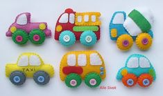 TECHICS felt magnets for kids Cars toys Kids car by DevelopingToys