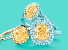 Tiffany yellow diamond rings.  www.tiffanys.com
