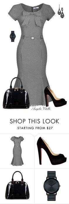 """""""Untitled #677"""" by angela-vitello on Polyvore featuring Christian Louboutin, Relaxfeel, Movado, women's clothing, women, female, woman, misses and juniors"""