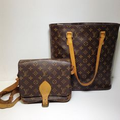 LV Monogram Cartouchiere MM Crossbody LV Monogram Vavin GM Tote (left to right) Price: $299.99 $499.99 Item#:15898-643 15898-642 (left to right) Call Sandy Springs at 770-390-0010 option 3 #alexissuitcase #designerconsignment #consignment #consignmentatlanta #louislove #louisvuitton #lvlockit #lockitmm #upscaleresale #luxurylifestyle by alexissuitcase