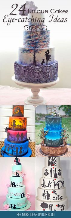24 Eye-Catching Unique Wedding Cakes ❤  From birdcage to fairy tale we're gathered unique wedding cakes to help you find some inspiration and do your wedding for 100 percent awesome! See more: http://www.weddingforward.com/unique-wedding-cakes/ #weddings #cakes