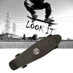 원래 peny 보드 블랙 스케이트 보드 미니 롱 보드 스케이트 물고기 긴 보드 스케이트 휠 플라스틱 크루저 스케이트 pnny 보드 22