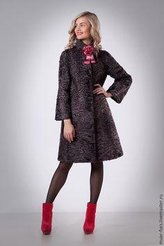 Купить Пальто из Каракуля Свакара Касабланка - серый, каракуль, каракульча, каракуль свакара, пальто из каракуля