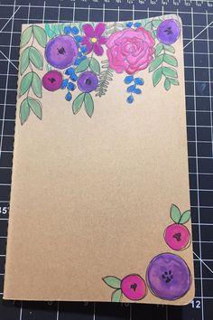 Personalized Moleskine Journal / Notebook / Hand by NickiCreates