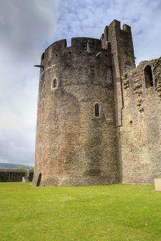 Caerphilly Castle, UK #castle