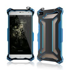 Netspower Huawei P8 Lite Case - Prime WaterProof SnowProof poussière ShockProof Armure Durable Case Protection Tough Full-Hybrid corps robuste de protection Shell Case Cover Housse Coque Etui étui Portefeuille for Huawei Ascend P8 Lite (Bleu): Amazon.fr: High-tech