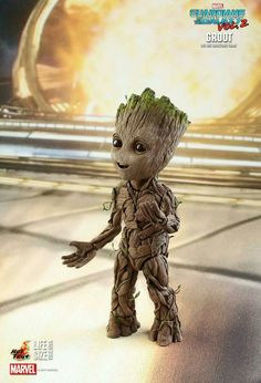 Fan-favorite figure makers Hot Toys have revealed their life-size Baby Groot figure from Guardians of the Galaxy Vol. Get your own Baby Groot next year! Ms Marvel, Marvel Avengers, Gaurdians Of The Galaxy, Guardians Of The Galaxy Vol 2, Baby Groot, Vin Diesel, Baby Animals, Cute Animals, Guardians Of The Galaxy