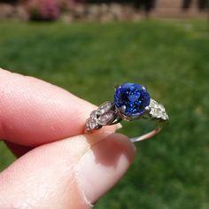 best ring ever. 1920s Engagement Ring, Tanzanite Engagement Ring, Tanzanite Ring, Heirloom Rings, Marquise Diamond, Rings Cool, Antique Rings, Diamond Cuts, Gemstone Rings