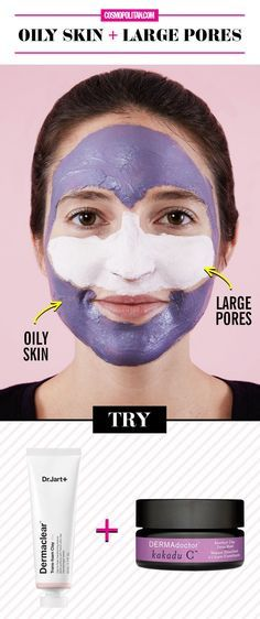 Oily Skin + Large Pores Face Mask Combination - Get Rid of Pores Easily: 15 Natural Tricks and DIYs To Shrink Large Pores