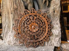Decorative carved wooden wall panel. Bring a sense of uniqueness with oriental design, adding luxurious and beautiful decorative patterns and