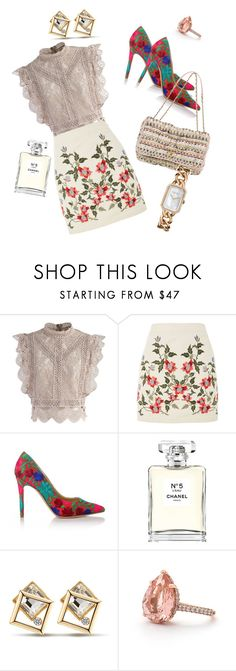 """Blair Waldorf style"" by karishma-sanjay-dhuri on Polyvore featuring Chicwish, Topshop, Vivienne Westwood and Chanel"