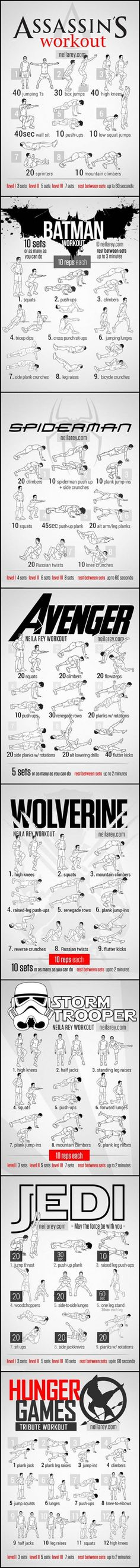 Choose your favorite one and start exercising (Challenge)