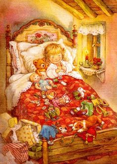 lisi martin – Never too sick for toys! lisi martin – Never too sick for toys! lisi martin – Never too sick for toys! lisi martin – Never too sick for toys! Christmas Scenes, Christmas Pictures, Christmas Art, Illustration Noel, Christmas Illustration, Vintage Christmas Cards, Vintage Cards, Images Vintage, Spanish Artists