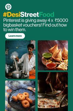 Join the Challenge Mango Recipes Indian, Indian Food Recipes, Mumbai Street Food, Indian Street Food, Bhaji Recipe, St Patricks Day Food, Desi Food, Food Menu, Pinterest Account