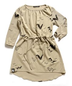 Love this Mini & Maximus Taupe Take-Off Bell Dress - Girls by Mini & Maximus on #zulily! #zulilyfinds