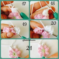 Hobi Zamanım: Tığ işi popcorn deseni Crochet Daisy, Crochet Flower Patterns, Crochet Flowers, Knit Crochet, Mittens, Wool, Blanket, Knitting, Crafts