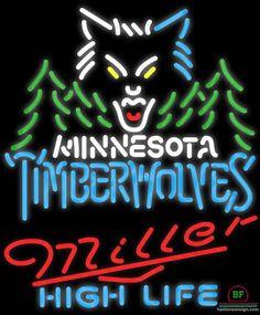 Miller High Life Minnesota Timber Neon Sign NBA Teams Neon Light