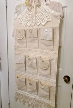 ~ The Feathered Nest ~: Antique lace, vintage buttons & laundered dropcloth...it doesn't get much better than that!