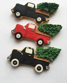 Lorena Rodriguez. Christmas cookies. Truck cookies.