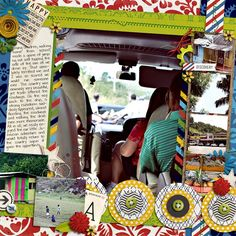 Travel/ Vacation Cruise Scrapbook page