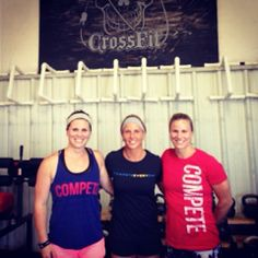Three awesome ladies from @AtomicCrossFit representing @Palestinians Compete Every Day. This team is California-bound next week!
