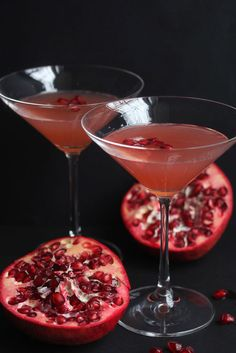 Pomegranate+Orange+Champagne+Cocktail