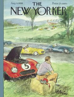 The New Yorker - Saturday, August 9, 1958 - Issue # 1747 - Vol. 34 - N° 25 - Cover by : Perry Barlow