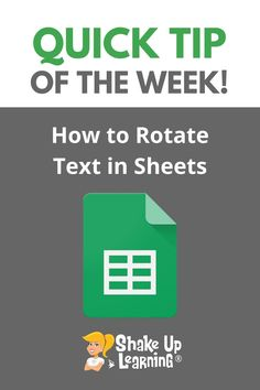 Have you ever wanted to rotate text in your Google Sheet so it is tilted vertically like in a grade book? It's super easy! Check out this post to learn How to Rotate Text in Google Sheets (Grade Book Style!) Free Teaching Resources, Teacher Resources, Teacher Pay Teachers, Technology Integration, Mobile Learning, Educational Technology, Shake, Super Easy, Books