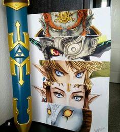 TP eyes art Ganondorf Midna Link Zelda Zant