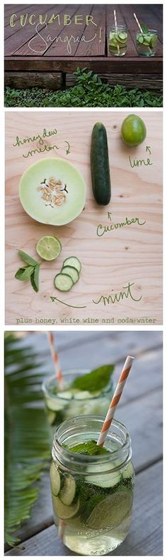 This refreshing Cucumber Sangria is perfect for your next backyard barbecue or just a hot afternoon! Find out how to make it on Delish Dish: http://www.bhg.com/blogs/delish-dish/2013/06/20/cucumber-sangria/?socsrc=bhgpin062113susumbersangria