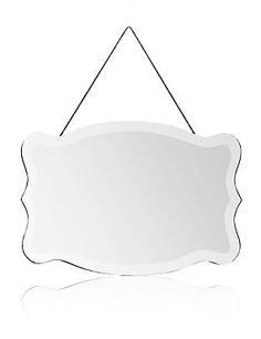 Clear Scallop Frame Mirror