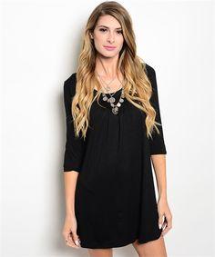 T-Shirt Dress - Black