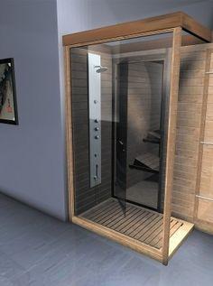 Steam Shower Cabin, Sauna Steam Room, Sauna Room, Steam Showers, Bathroom Medicine Cabinet, Interior Architecture, Bathroom Ideas, Diy Home Decor, Loft