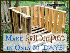 While we all know how great compost is for the garden you might feel you don't have the time to wait months for it to be ready. You don't have to!  Learn to make REAL compost in 30 days!