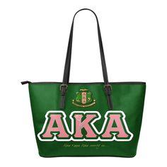 Alpha Kappa Alpha Small Leather Tote