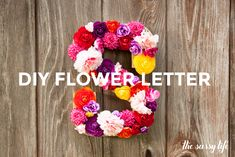 May DIY Flower Letter would this be a cute door hanging?