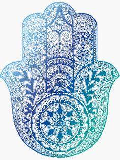 'Blue Hamsa' Photographic Print by adjsr Framed Prints, Canvas Prints, Art Prints, Hamsa Art, Hamsa Design, Hand Of Fatima, Hippie Art, Mandala Tattoo, Tattoos