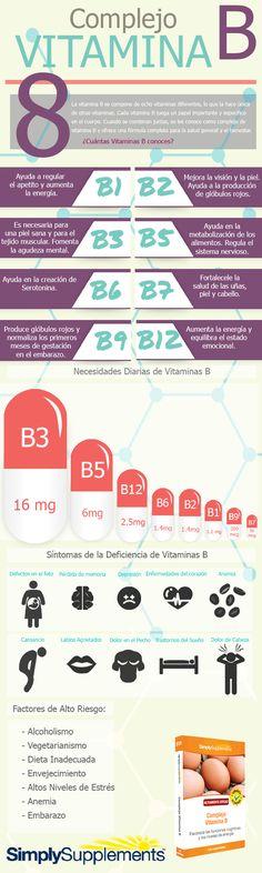 Todo lo que necesitas saber sobre las Vitaminas B. #infografia #vitaminab #saludybienestar