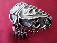 316L Stainless Steel Large Skull Cuff Bracelet